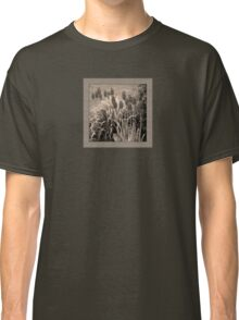 old timey tulips (square) Classic T-Shirt