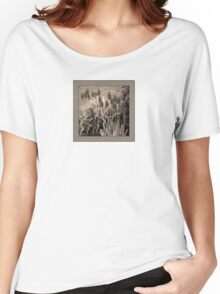 old timey tulips (square) Women's Relaxed Fit T-Shirt