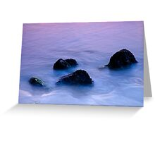 Stones in sea water Greeting Card