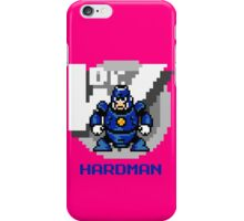 Hard Man with Blue Text iPhone Case/Skin