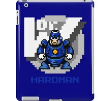 Hard Man with Blue Text iPad Case/Skin