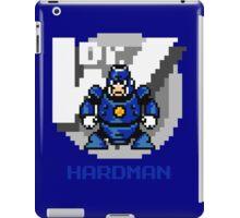 Hard Man with Blue Text iPad Case/Skin