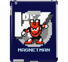 Magnet Man with Ice Blue Text iPad Case/Skin