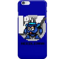 Needle Man with Black Text iPhone Case/Skin