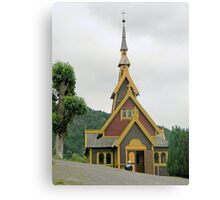 Norwegian Country Church Canvas Print
