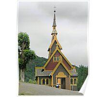 Norwegian Country Church Poster
