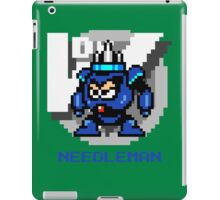 Needle Man with Blue Text iPad Case/Skin