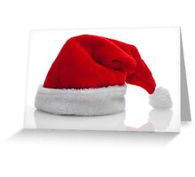 Traditional red santa claus hat Greeting Card