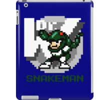 Snake Man with Green Text iPad Case/Skin