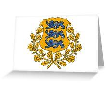Estonia Coat of Arms  Greeting Card