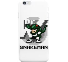 Snake Man with Black Text iPhone Case/Skin