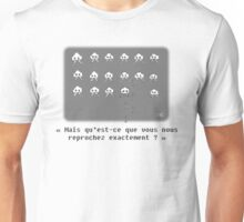 Poor little space invaders (french) Unisex T-Shirt
