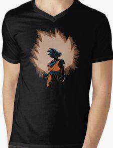 Saiyan Rises Mens V-Neck T-Shirt
