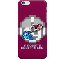 Rush dragging Megaman iPhone Case/Skin