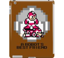 Red Megaman Riding Jet Rush (Black Text) iPad Case/Skin