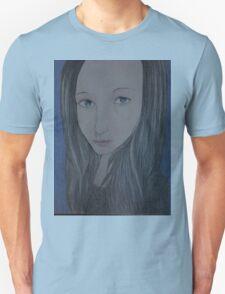 Beautiful woman in Blue T-Shirt