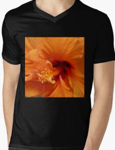 From Deep Within! Hibiscus flower macro. 'Arilka'. Mens V-Neck T-Shirt