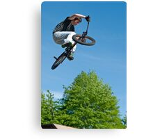 BMX Bike Stunt Canvas Print