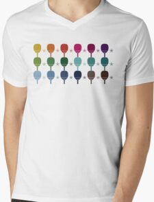 Ping Pong Table Tennis Mens V-Neck T-Shirt