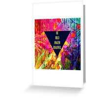 BE BOLD BRAZEN BEAUTIFUL Abstract Typography Hipster Geometric Triangle Colorful Rainbow Fine Art Painting Greeting Card