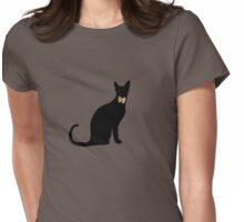 cool cat in a tux Womens Fitted T-Shirt
