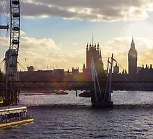 Sunset in City of Westminster by timkouroff