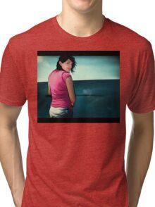 a day at the beach Tri-blend T-Shirt
