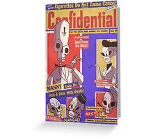 Confidential Magazine Cover Greeting Card