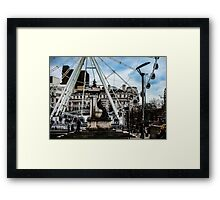 The Manchester Wheel Framed Print