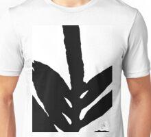 Green Fern Black and White Unisex T-Shirt
