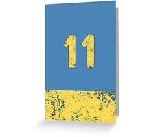 Vault 11 - Light Blue Greeting Card