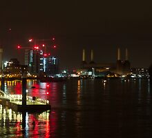 Vauxhall Bridge night view by timkouroff