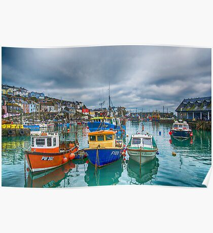 Mevagissy Harbour Poster