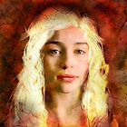 Emilia Clarke Dragon Fire Portrait by Andre Martin