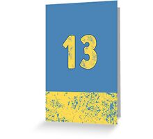 Vault 13 - Light Blue Greeting Card