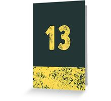 Vault 13 - Vintage Blue Greeting Card