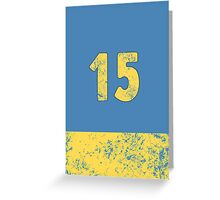 Vault 15 - Light Blue Greeting Card