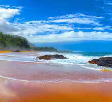 Lumaha'i Beach, Kauai by Thomas Barber