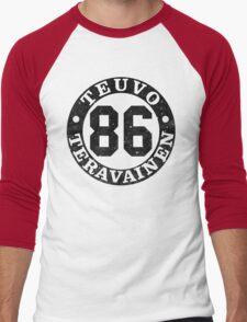 Teuvo Number  Men's Baseball ¾ T-Shirt