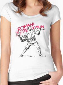 Romani Ite Domum Women's Fitted Scoop T-Shirt