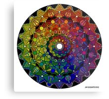 Mandala 46 T-Shirts, Hoodies and Stickers and cases - Jim Gogarty Metal Print