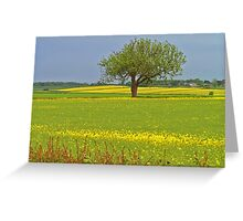 East Yorkshire Rape Field Greeting Card