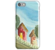 Red Walls on a Hill iPhone Case/Skin