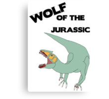 Wolf of the Jurassic Canvas Print