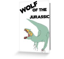 Wolf of the Jurassic Greeting Card