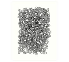 Tangled Up In Bicycles Art Print
