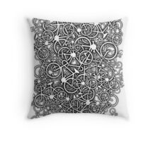 Tangled Up In Bicycles Throw Pillow