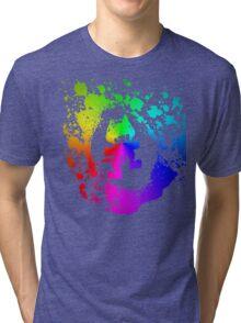 Colourful feline.  Tri-blend T-Shirt