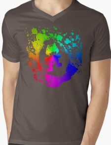 Colourful feline.  Mens V-Neck T-Shirt