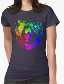 Colourful feline.  Womens Fitted T-Shirt